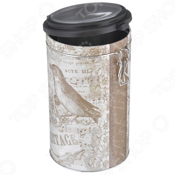 Емкость для сыпучих продуктов Феникс-Презент «Птица»Банки для хранения<br>Емкость для сыпучих продуктов Феникс-Презент Птица станет отличным дополнением к набору вашей кухонной утвари. Изделие выполнено из окрашенного металла и предназначено для хранения различных сыпучих продуктов: сахара, кофе, муки, соли, круп, макаронных изделий и т.д. Плотно закрывающаяся крышка препятствует проникновению посторонних запахов. Банку нельзя мыть в посудомоечной машине.<br>