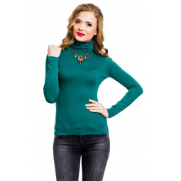 фото Водолазка Mondigo 046. Цвет: темно-зеленый. Размер одежды: 44