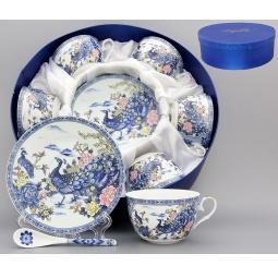 Купить Чайный набор с ложками Elan Gallery «Павлин на серебре»