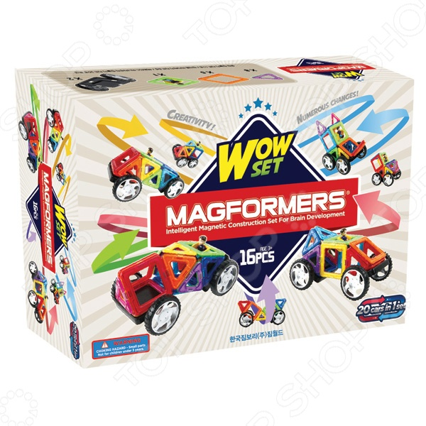 Magformers  Конструктор магнитный Wow set