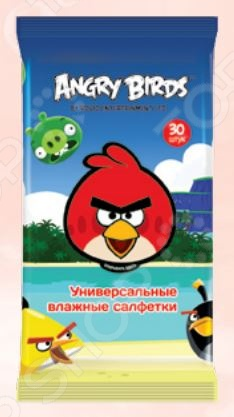 Набор салфеток влажных детских Авангард AB-48739 Angry Birds набор салфеток влажных антибактериальных авангард sf 70900