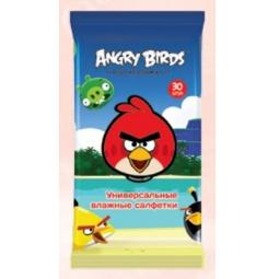 Купить Набор салфеток влажных детских Авангард AB-48739 Angry Birds