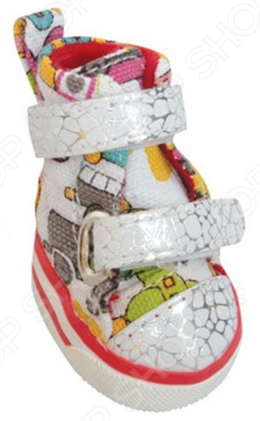 Обувь для собак DEZZIE «Картун»Обувь для собак<br>Обувь для собак DEZZIE Картун интересная вещь, с помощью которой вы обеспечите вашему питомцу нужный комфорт во время прогулок. Обувь разработана с учетом анатомических особенностей животных, плотно облегает лапу, имеет липучки и язычок-фикстор для защиты шерсти при застегивании. Резиновая подошва не скользит по льду и не даст лапам промокнуть. Обувь смотрится очень мило, при этом прекрасно сохраняет форму при носке. Из представленного ассортимента можно выбрать размер.<br>