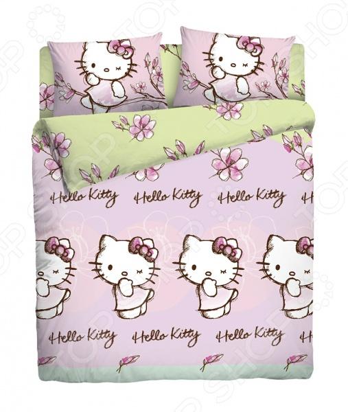 Детский комплект постельного белья Hello Kitty 180500 hello kitty hello kitty бюстгальтер девушка стадия развития хлопкового белья нет каймы kt2103b a85 розовый
