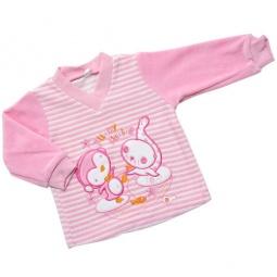 Купить Джемпер с вышивкой IDEA KIDS «Весёлые полосатики». Цвет: розовый