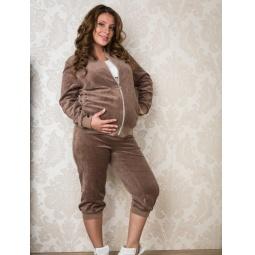 фото Костюм спортивный для беременных Nuova Vita 9104.04. Цвет: бежевый. Размер одежды: 42