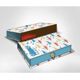 фото Шкатулка-коробка подарочная Феникс-Презент «Машинки». Размер: M (20х14 см). Высота: 6 см