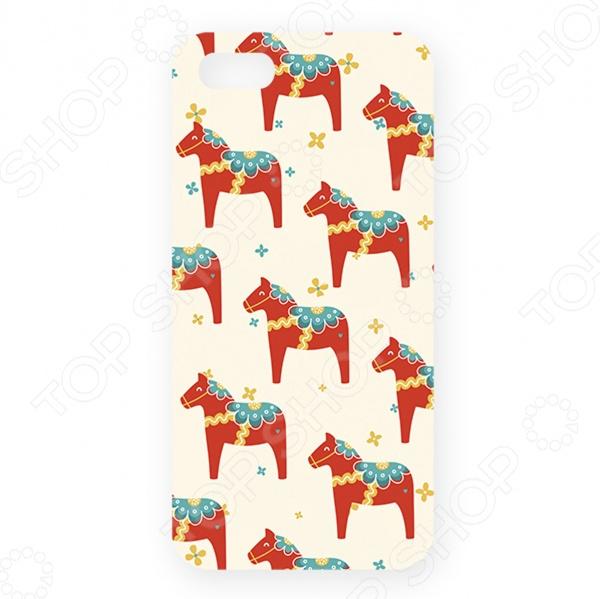 Чехол для iPhone 5 Mitya Veselkov «Много скандинавских лошадок» цена