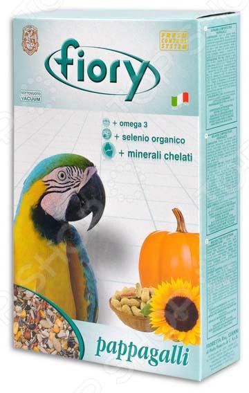 Корм для попугаев крупных размеров Fiory PappagalliКорма. Лакомства для птиц<br>Корм для попугаев крупных размеров Fiory Pappagalli полезнейшая смесь для ваших пернатых питомцев. Корм содержит различные виды семян, в том числе и тыквенные они богаты витаминами A, B, C, а также огромным количеством минералов и микроэлементов. Они повышают иммунитет птицы, предотвращают заболевания мочеполовой системы. Тыквенные семечки также отличаются превосходным вкусом, который обязательно оценят ваши питомцы.<br>