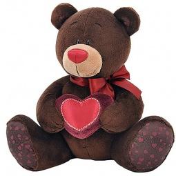 фото Мягкая игрушка Choco&Milk «Медведь мальчик с сердцем»