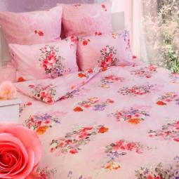фото Комплект постельного белья Сова и Жаворонок «Розы» 19073. Семейный
