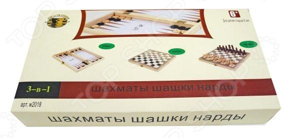 Игра настольная 3 в 1: шашки, шахматы, нарды Shantou Gepai W4018-HШахматы и шашки<br>Игра настольная Shantou Gepai W4018-H три увлекательные игры в одном наборе. Игровой процесс способен объединить людей разных возрастов и интересов, ведь это нечто большее, чем просто будничное развлечение. Нарды, шахматы и шашки способствуют развитию стратегического мышления и интеллекта, учат продумывать свои действия на несколько ходов вперед.<br>