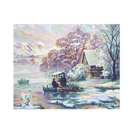 Купить Набор для рисования по номерам Schipper «Горное озеро зимой»