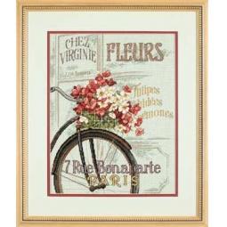 фото Набор для вышивания Dimensions «Парижский велосипед»