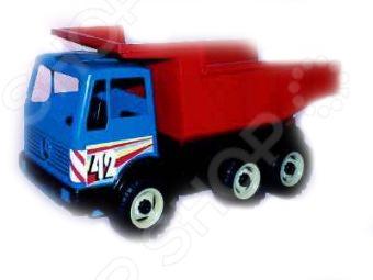 Самосвал игрушечный Лена 3х-осный мусоровоз лена 3х осный 23 см разноцветный 8812