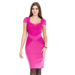 фото Платье Mondigo 5179. Цвет: фуксия. Размер одежды: 46