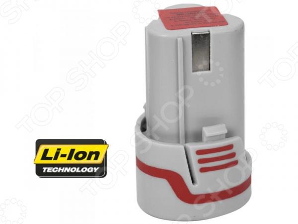 Батарея аккумуляторная Зубр ЗАКБ-12-ЛиАккумуляторные батареи. Зарядные устройства<br>Батарея аккумуляторная Зубр ЗАКБ-12-Ли аккумуляторная литиевая батарея для электроустройств. Имеет низкий уровень саморазряда. Основное применение таких аккумуляторов обеспечение работоспособности шуруповертов. Преимущества:  Обеспечивает повышенную производительность аккумуляторного инструмента, не имеет эффекта памяти и в два раза легче по сравнению с другими типами аккумуляторов одинаковой емкости.  Отличается высоким более 500 количеством циклов заряда разряда.  Встроенная электронная система защиты предохраняет аккумулятор от: перегрузки, перегрева, глубокого разряда.<br>