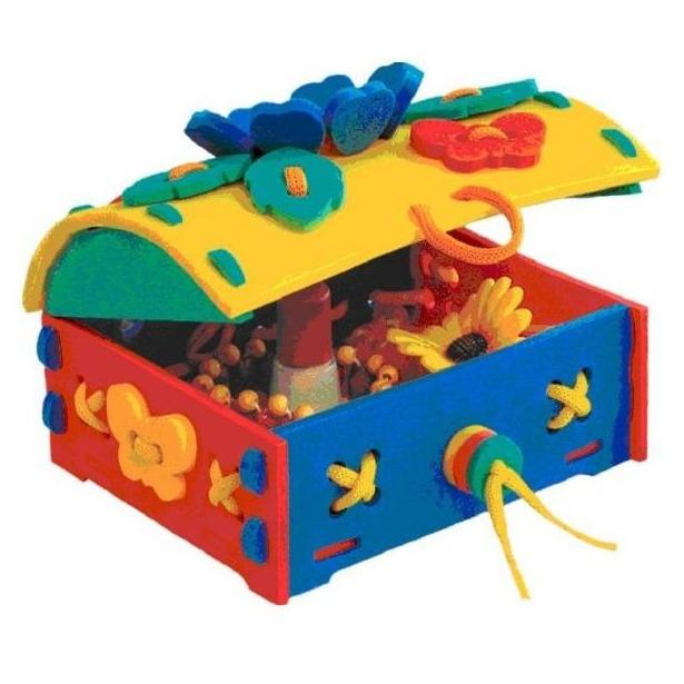 фото Игра развивающая для малыша Флексика «Шнуровка. Сундучок»