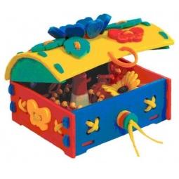 Купить Игра развивающая для малыша Флексика «Шнуровка. Сундучок»
