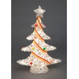 фото Декорация с подсветкой Holiday Classics «Елка уличная». Цвет: белый