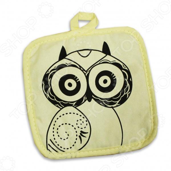 Прихватка Bon Appetit OwlКухонные полотенца. Прихватки<br>Прихватка Bon Appetit Owl поможет каждой хозяйке готовить с комфортом и создавать настоящие кулинарные шедевры. Такой полезный аксессуар нужен на каждой кухне, ведь он защищает кожу от воздействия высоких температур. Благодаря оригинальному дизайну изделия, ярким насыщенным цветам и мягкому материалу, процесс приготовления пищи становится в разы легче и веселее. Такая прихватка добавит в интерьер кухни радостное настроение. Изделие выполнено из натурального хлопка и синтепона материалы безопасны для здоровья человека и не вызывают аллергии. А разместить его можно на стенном крючке с помощью специальной петельки. Прихватка с изображением забавной совы станет отличным подарком и порадует каждую хозяйку.<br>