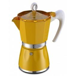 фото Кофеварка гейзерная G.A.T. BELLA. Цвет: желтый. Объем в чашках: 6 чашек