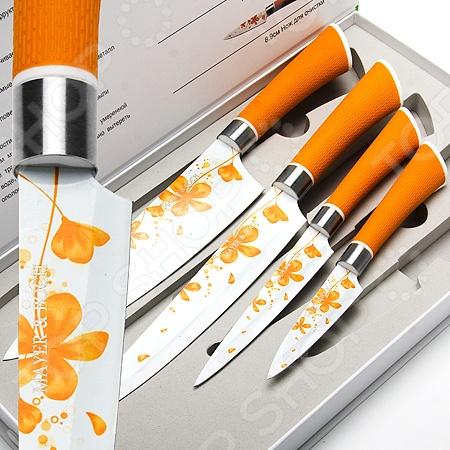 Набор ножей Mayer&amp;amp;Boch MB-24144Ножи<br>Набор ножей Mayer Boch MB-24144 состоит из четырех инструментов, изготовленных из нержавеющей стали, что гарантирует длительный срок службы и высокий уровень износоустойчивости. Ножи с тончайшим лезвием станут для вас верным помощником при нарезке овощей, фруктов и мяса. Поскольку их лезвия не впитывают запахов, вы сможете насладиться естественным вкусом продуктов без металлического привкуса. Специальный дизайн ручки обеспечивает безопасную работу и комфортное положение в руке, а коробка для хранения, которая входит в набор, сэкономит место на рабочем столе и повысит уровень безопасности при хранении и транспортировке приборов.<br>