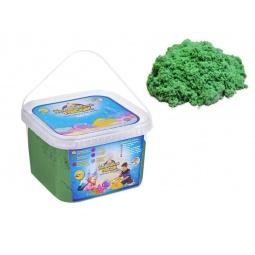 фото Песок кинетический Космический песок в квадратном ведерке. Цвет: зеленый