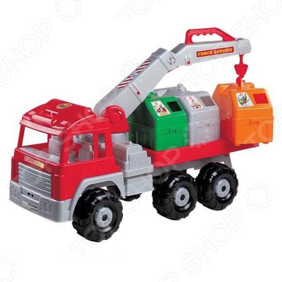 Машинка игрушечная Нордпласт «Мусоровоз Евростар». В ассортименте