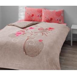 фото Комплект постельного белья TAC Viola. 1,5-спальный. Цвет: бежевый