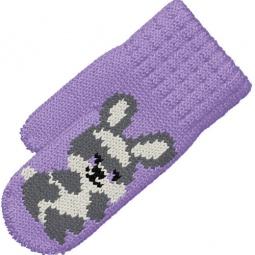 Купить Варежки вязанные для девочек R&I «Зайка»