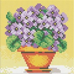 фото Набор для создания мозаики Белоснежка «Фиалки в горшочке»
