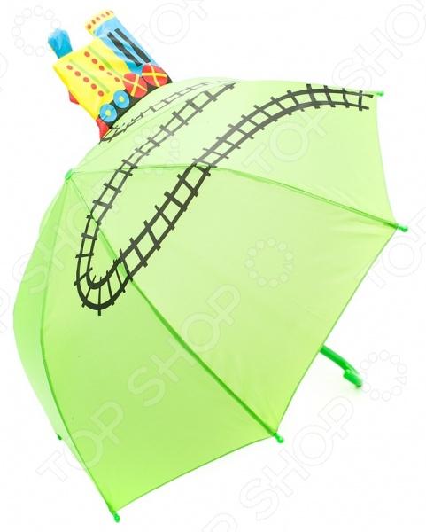 Зонтик детский Mary Poppins «Паровоз»Зонты детские<br>Зонтик детский Mary Poppins Паровоз оригинальный и практичный аксессуар для вашего ребенка. Большой зонтик не только надежно укроет его от дождя или мокрого снега, но и убережет от сильных порывов ветра. Прочный каркас и надежное крепление купола обеспечивают удивительную устойчивость зонтика, поэтому его можно брать с собой в любую погоду. Зонт прост и практичен в использовании за счет механической системы складывания. Концы спин закрыты пластиковыми шариками, поэтому ребенок не сможет никого поранить или поцарапать. Диаметр купола составляет 71 см, что означает, что он укроет и ребенка, и его рюкзак или сумку. Другой особенностью детского зонта Mary Poppins Паровоз можно считать занимательный и необычный дизайн, который обязательно понравится юному автолюбителю. Зонтик дополнительно оформлен объемным паровозиком, который выполняет роль своеобразного украшения. Яркий цвет купола сохранит свою насыщенность, поэтому ещё долго будет скрашивать серые дождливые дни и поднимать настроение всем окружающим. С таким зонтиком ваш ребенок точно не останется незамеченным в толпе!<br>
