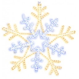 фото Подвес декоративный Star Trading Snowflake. Диаметр: 75 см. Цвет: желтый, белый