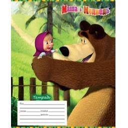Купить Тетрадь в клетку Росмэн «Маша и Медведь» 13982