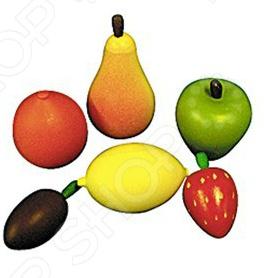 Игровой набор для ребенка RNToys «Фрукты»Сюжетно-ролевые наборы<br>Игровой набор RNToys Фрукты предназначен для таких маленьких, но уже таких любознательных малышей. В комплекте можно найти одни из самых распространенных фруктов грушу, апельсин, сливу, лимон, клубнику и яблоко. Играя с ними, ребенок сможет узнать больше об окружающем мире и сможет сам создавать игровые ситуации. Игрушки изготовлены из натурального дерева и имеют закругленные края, чтобы избежать вероятность травмирования.<br>