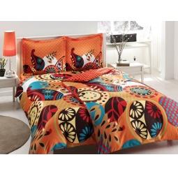 фото Комплект постельного белья TAC Evas. Семейный. Цвет: оранжевый