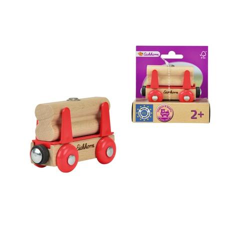 Купить Вагончик игрушечный Eichhorn «Вагон с бревнами»