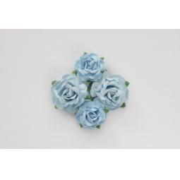 фото Набор украшений ScrapBerry's «Чайная роза». Диаметр: 4 см, 3 см. Цвет: голубой