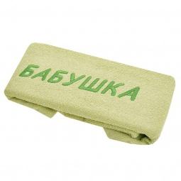 фото Полотенце подарочное с вышивкой TAC Бабушка. Цвет: зеленый