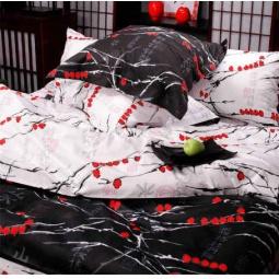 фото Комплект постельного белья из сатина Tete-a-Tete Снегири. 1,5-спальный и набор ароматизаторов