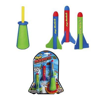 Ракетомет карманный Zing «Pop Rocketz» игрушка ракеты с подсветкой 2 шт с пусковым устройством zing