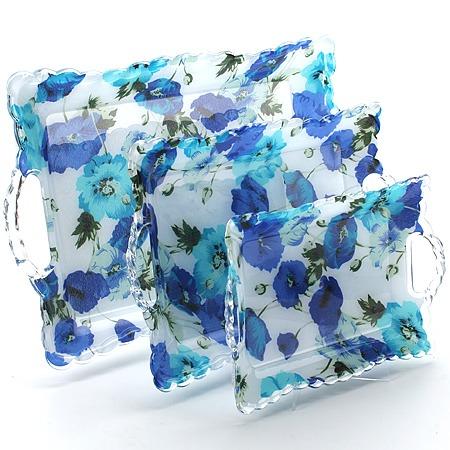 Купить Набор подносов Mayer&Boch MB-3239 «Синие маки»
