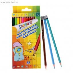 фото Набор карандашей акварельных Silwerhof Emotions Creative: 24 цвета