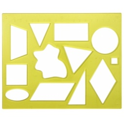 фото Трафарет пластиковый Луч «Геометрические фигуры» 2