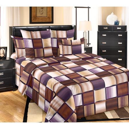 Купить Комплект постельного белья Белиссимо «Техно». 2-спальный. Цвет: коричневый