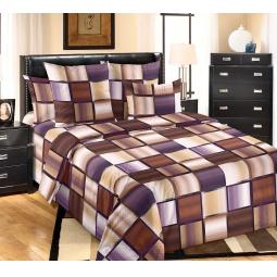 фото Комплект постельного белья Белиссимо «Техно». 2-спальный. Цвет: коричневый. Размер простыни: 220х195 см