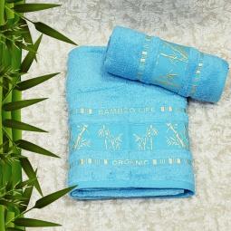 фото Полотенце махровое Mariposa Tropics biruza. Размер полотенца: 70х140 см