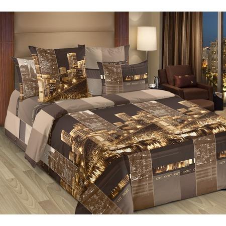 Купить Комплект постельного белья Белиссимо «Сити». 2-спальный. Цвет: коричневый