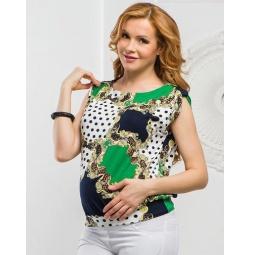 Купить Блузка для беременных Nuova Vita 1335.3. Цвет: зеленый
